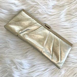 Vintage Jessica McClintock Metallic Clutch Handbag